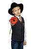 ID 3050798 | 男孩红色的花 | 高分辨率照片 | CLIPARTO