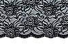 Schwarze Spitze mit Blumenmuster | Stock Foto