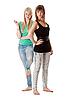 Dwie dziewczyny w dżinsach | Stock Foto