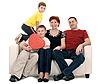 Rodzina na kanapie | Stock Foto