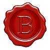 ID 3050093 | Woskową pieczęcią na literę B | Stockowa ilustracja wysokiej rozdzielczości | KLIPARTO