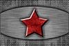 ID 3051074 | Metallplatte mit dem roten Stern | Illustration mit hoher Auflösung | CLIPARTO