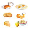Frühstück-Icons