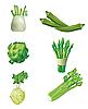 Set von Gemüse