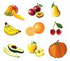 Set von Obst und Gemüse