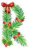 Christmas litera R z gałęzi jodłowych | Stock Vector Graphics