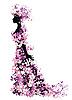 여자 꽃의 | Stock Vector Graphics