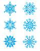 圣诞节雪花集 | 向量插图
