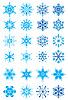 ID 3074568 | 눈송이의 크리스마스 휴일 설정 | 벡터 클립 아트 | CLIPARTO