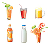 Different beverages  | Stock Vector Graphics