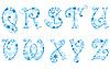 圣诞雪花字母 | 向量插图