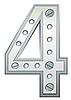 ID 3078493 | Metallische Ziffer Vier | Stock Vektorgrafik | CLIPARTO