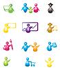 Set von Icons mit Menschen