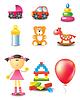 Icons der Spielzeuge
