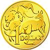Australijski dolar moneta z wizerunkiem kangaro | Stock Vector Graphics