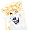 Akita Inu Japanischer Hund lächelt | Stock Vektrografik