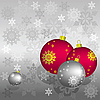 Weihnachtskarte mit Kugeln | Stock Vektrografik