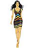 ID 3063293 | Piękne azjatyckie dziewczyny w sukience w paski | Klipart wektorowy | KLIPARTO