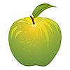 육즙 녹색 사과 | Stock Vector Graphics