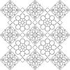 ID 3070019 | Schwarzweißes Blumenmuster | Stock Vektorgrafik | CLIPARTO