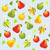 nahtloses Muster mit verschiedenen Früchten