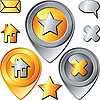 Goldene und silberne Icons | Stock Vektrografik