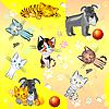 ID 3081518 | Muster mit Katzen und Hunden | Stock Vektorgrafik | CLIPARTO
