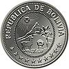 Boliwijczyk srebrne monety centavo pięćdziesiąt | Stock Vector Graphics