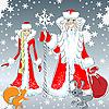 Дед Мороз и Снегурочка | Векторный клипарт
