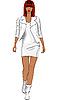 Modische schwarze Frau im Leder | Stock Vektrografik