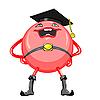 lustiger lächelnder roter Ball Jurist