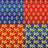 heraldische nahtlose Hintergründe