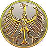 German złota moneta z heraldycznego orła | Stock Vector Graphics