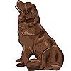 Hund Neufundland Zucht sitzen | Stock Vektrografik