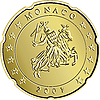 eurocent coin monaco