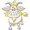 lustiger lächelnder Ziegebock