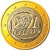 Griechische Münze 1 € mit Eule