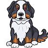 Niedlichen Berner Sennenhund Welpe lächelt | Stock Vektrografik