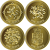 Satz von Briten eine Pfund-Münzen