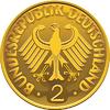 Deutschland Geld Goldmünze mit heraldischen Adler