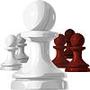 Schachfiguren - schwarze und weiße Bauer