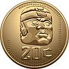 Mexikanische Münze mit Indianer
