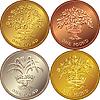 Set Britische Geld Goldmünze 1 £