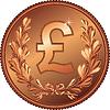 Gold Geld Pfund-Münze