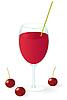 Cherry w szklance soku | Stock Vector Graphics