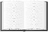 Czarny notebook dla notatek | Stock Vector Graphics