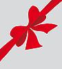 大蝴蝶结的红丝带 | 向量插图