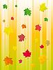 Tło z liści jesienią | Stock Vector Graphics