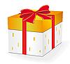 礼品盒与红丝带 | 向量插图