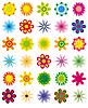 Sammlung von einfachen Blumen